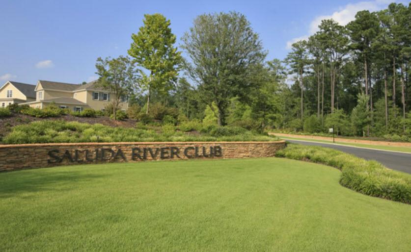 Saluda River Club entrance.