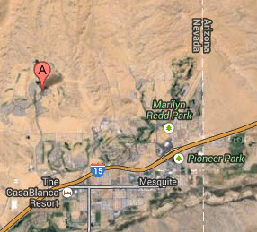Located in eastern NV just North of I-15