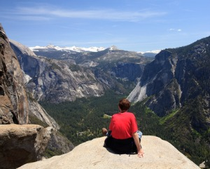Senior Traveling in Yosemite